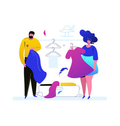 going on vacation - colorful flat design style vector image