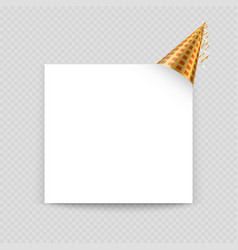 greeting card template with blank paper vector image