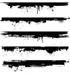 Grunge borders vector