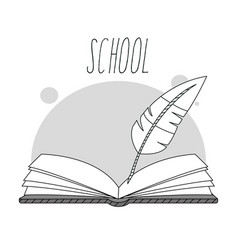 hand draw education cartoons vector image