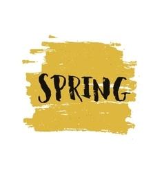 Handdrawn lettering Spring vector