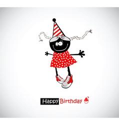 Happy birthday girl funny vector
