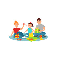 happy family preparing gifts for holiday family vector image