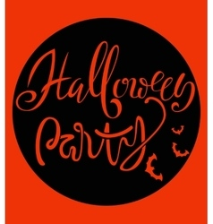 Happy Halloween handwritten lettering composition vector image