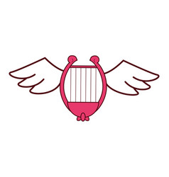 harp with wings vector image