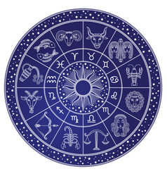 Horoscope and astrology circle zodiac vector