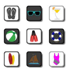 icon logo for set symbols on flat vector image