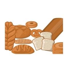 Isolated bread design vector