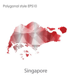 Isolated icon singapore map polygonal vector