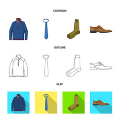 isolated object of man and clothing symbol vector image