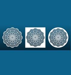 laser cut mandala coaster or wall art panel cnc vector image