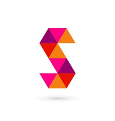 Letter S mosaic logo icon design template elements vector