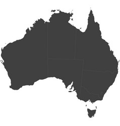 Map of australia split into individual states vector