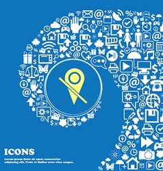 Map pointer icon sign nice set of beautiful icons vector