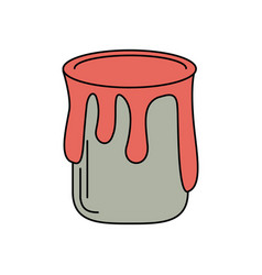 paint can colo icon vector image