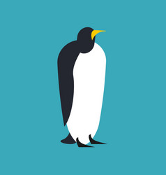 penguin isolated animal north pole bird vector image