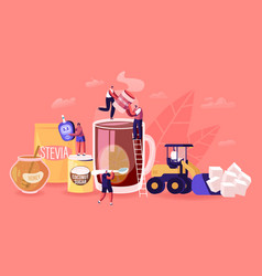 People eating natural sweeteners concept male and vector