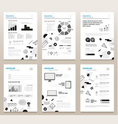 Presentation booklets - bw template a4 vector