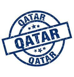 Qatar blue round grunge stamp vector