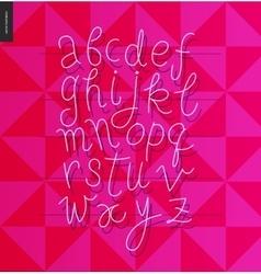 Script alphabet 1 vector image