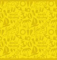 Seamless pattern with beach signs vector