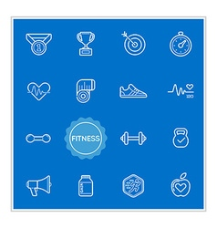 Set of Fitness Elements can be used as Logo or vector image