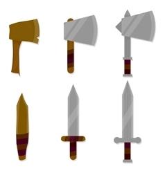 Set of weapon vector