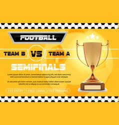 Soccer football poster design football vector