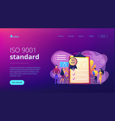 standard for quality control concept landing page vector image