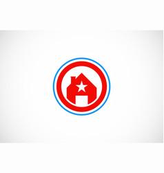 star house icon logo vector image