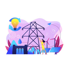 sustainable energy concept vector image