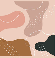 Terracotta modern digital painting art print vector