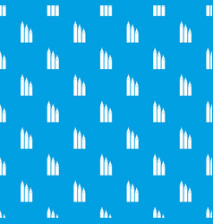 three pencils pattern seamless blue vector image