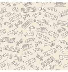 Transportation seamless background vector