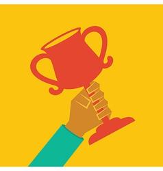 Trophy in hand stock vector image