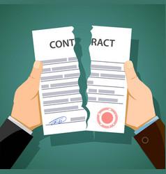Two men breaking contracts vector