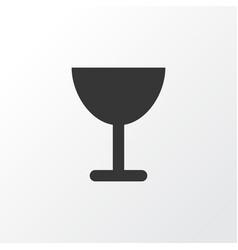 wineglass icon symbol premium quality isolated vector image