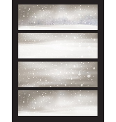 winter snowfall vector image