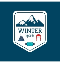 winter sport season poster vector image