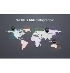 World map beautiful and trendy background vector