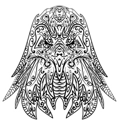 Zentangle stylized eagle head vector image