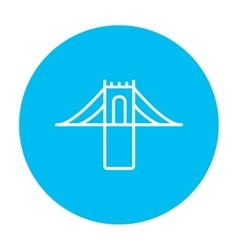 Bridge line icon vector image