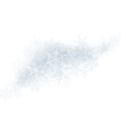 Christmas background with crystallic snowflakes vector image vector image