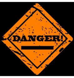 danger grunge label vector image