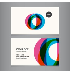 Business card template letter O vector image vector image