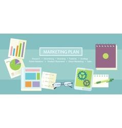 Marketing Plan Concept vector image vector image