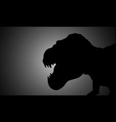 tyrannosaurus rex vector image vector image