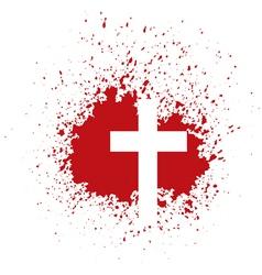 bloody cross vector image vector image