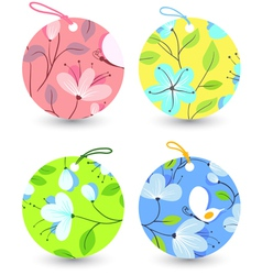 flower tags vector image