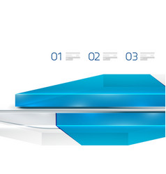 Glass digital geometrical design template vector image